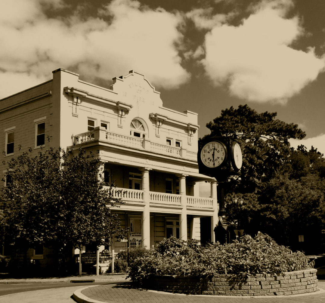 """Ruth Ann Seyffart """"Hope Church from the Circle"""" photograph"""