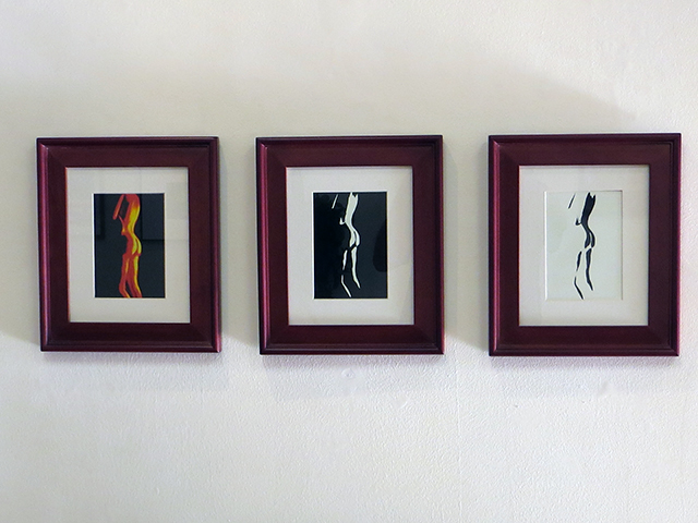 "Job Kunkel ""Fireside"" photograph triptych"