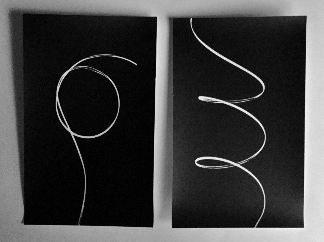 """Patricia Bender """"Shadow Drawing #1"""" unique gelatin silver photograms"""