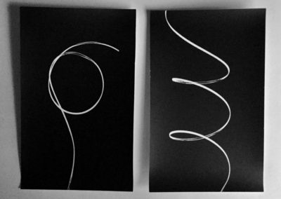 "Patricia Bender ""Shadow Drawing #1"" unique gelatin silver photograms"
