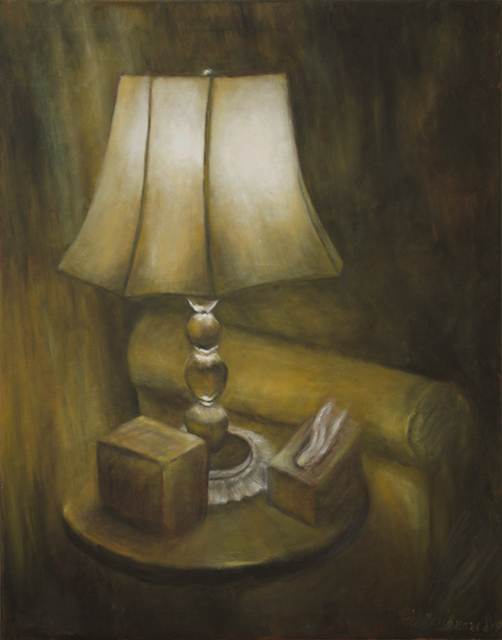 "Neil Besignano ""My Living Room"" oil on canvas"