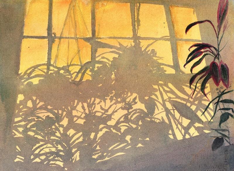 "Valerie Shkymba McAndrews  ""Morning Shadows""  watercolor"