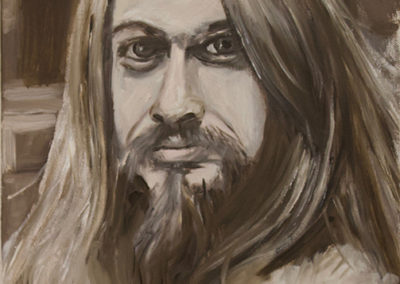 "Michele Guttenberg ""Leon Russell""  oil on canvas"