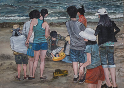 "Michele Guttenberg ""Midland Beach, S.I.""  oil on canvas"