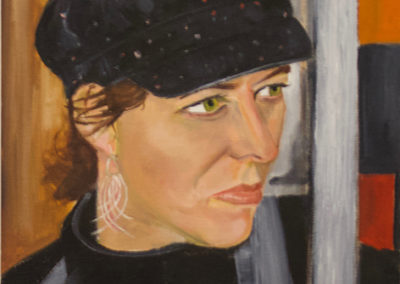 "Michele Guttenberg ""Pam in San Francisco""  oil on canvas"