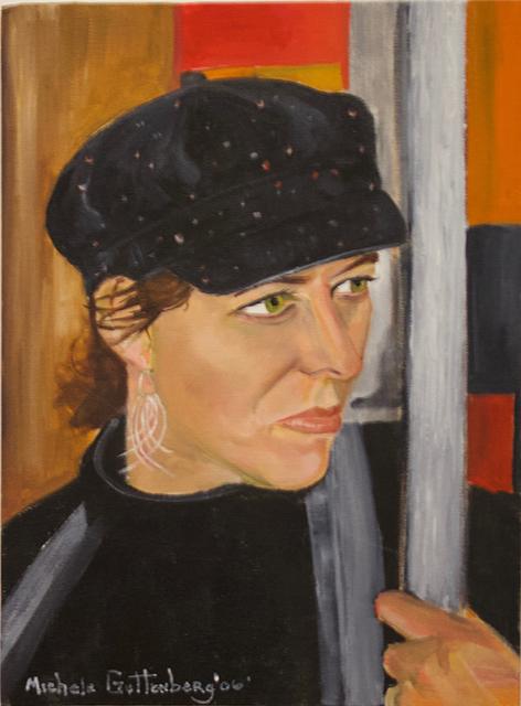 "Michele Guttenberg ""Pam in San Francisco""  oil on canvas"
