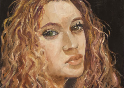 "Michele Guttenberg ""Sarah""  oil on wood"
