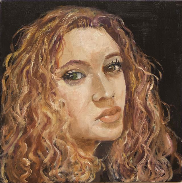 "Michele Guttenberg ""Sarah""  oil on wood"