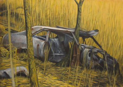 "Neil Besignano ""At the Boat Graveyard, Arthur Kill Road""   oil on canvas"