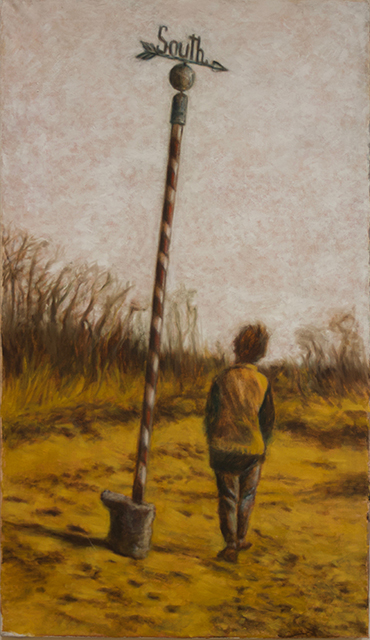 """Neil Besignano """"Tottenville Beach, S.I., New Years Day"""" oil on canvas"""