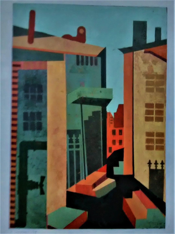 "Deirdre Sheean  –  ""Just around The Corner"", acrylic, 20"" x 14"", 2019,"