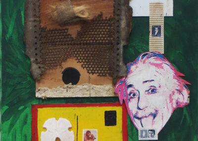 """John Marron """"Semi Perm – (Einstein seal of approval)"""" collage, $200.00"""