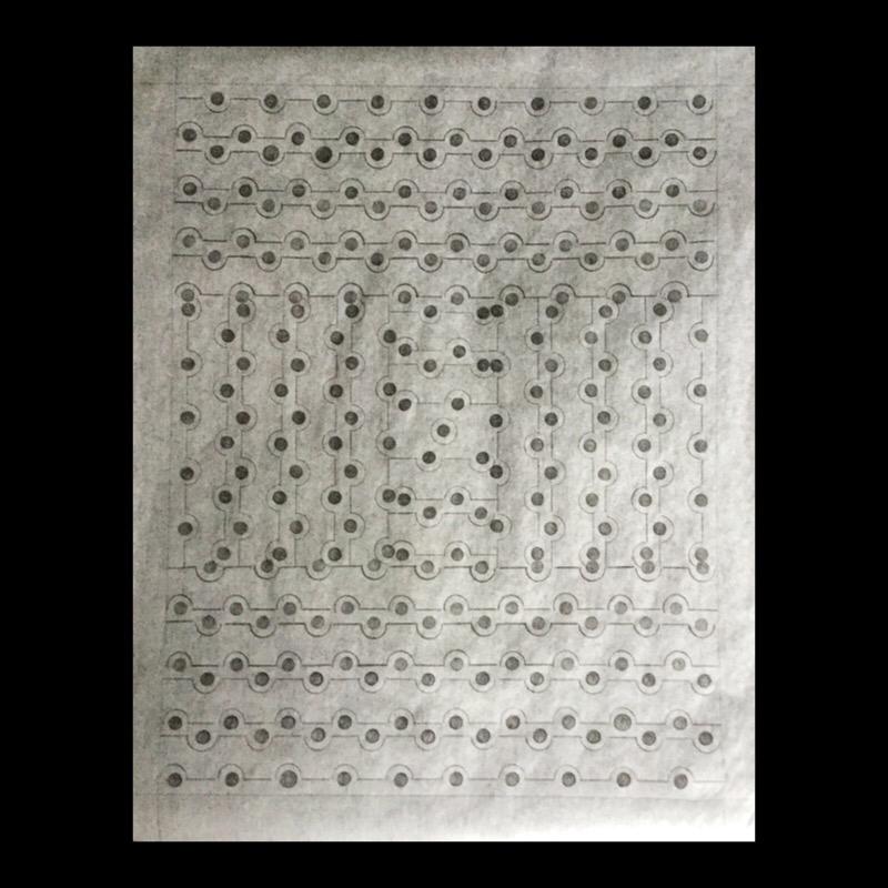 "Patricia Bender (whitgram#3) graphite on onion skin paper, framed size 16""(h) x 20""(w), 2021, $400.00"