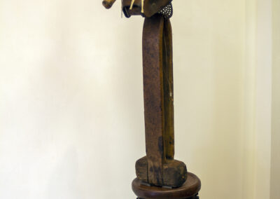 """Larry Lee Murrell """"Hatchet Man"""" found object sculpture, NFS"""