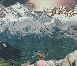 "Eric Toscano ""Untitled (Journey)"" collage $150.00"