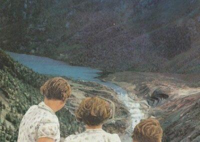 "Eric Toscano ""Untitled (Wish)"" collage $150.00"