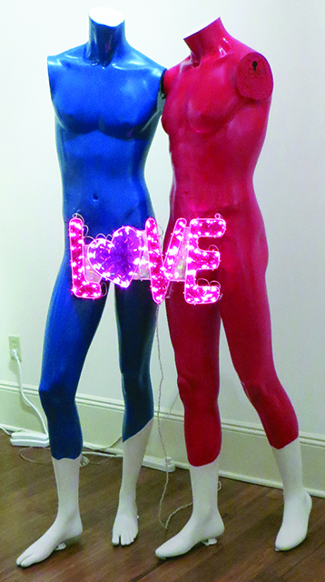 """Fred Cole -""""Adam and Steve"""" found mannequins and Love sign"""