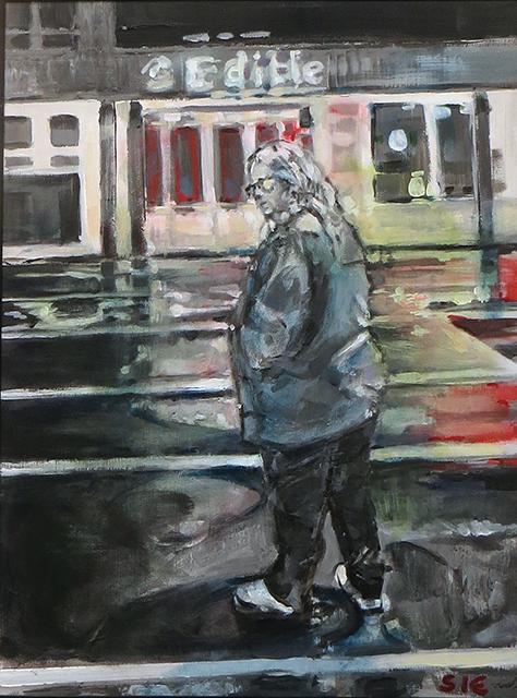 "Steven Epstein -""Edible"" acrylic on hardboard"