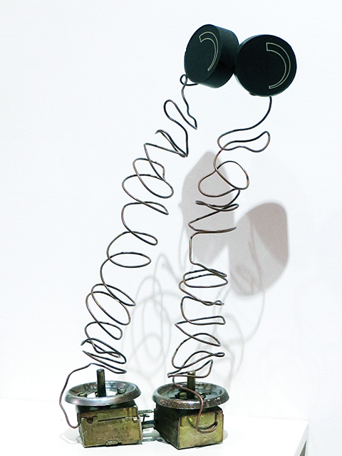 """Fred Cole -""""Park Theatre Balcony"""", recycled Italian radio components"""