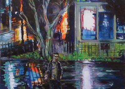 "Steven Epstein -""Slippery"" acrylic on canvas"