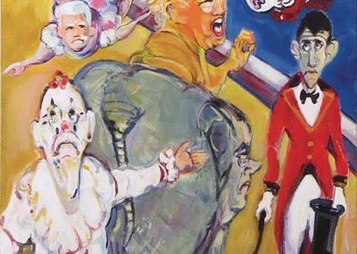 "Steven Epstein  ""The Gravest Show on Earth"" acrylic on canvas, $375.00"