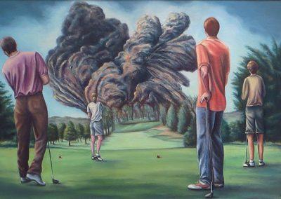 On The Fairway – oil on canvas: 25″ x 34″