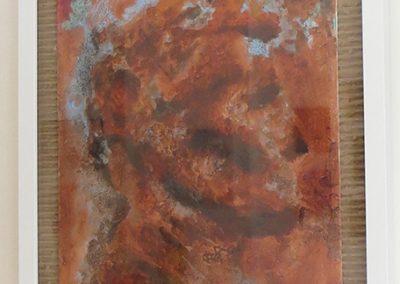 "Natalya Tali Margolin   ""Abraham"" acrylic on canvas board,  $400.00"
