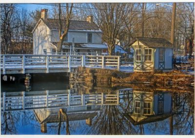 "Ted Settle  ""Griggstown – Bridge Tenders House"" photograph"