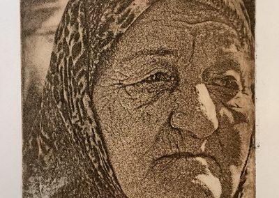 "Jane Settle ""Palestinian Refugee"" Solar Print"
