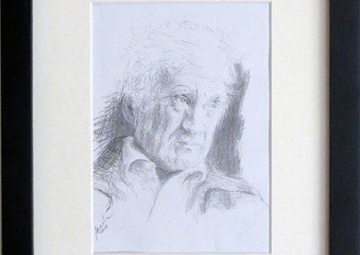 """Natalya Tali Margolin   """"Eli Wiesel"""" pencil on paper,  $400.00"""