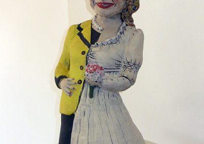"Cheryl Harper  ""Hillary Bride Doll (inspired by American Girl Dolls)"" ceramic, $3,000.00"