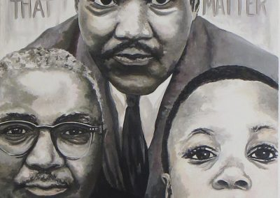 "Jeleata Nicole   ""Three Generations of Kings""  oil ,  $2,000.00"
