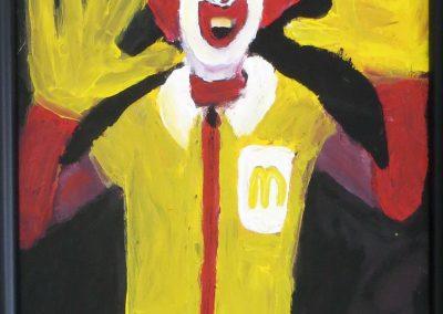 """Richard Isolde """"Ronald McDonald"""" acrylic, $200.00"""
