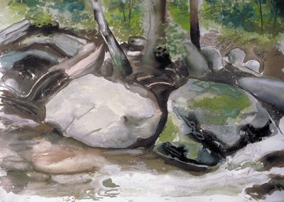 "Brian McCormack ""Rocky stream at Harriman"" print of watercolor"