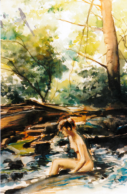 Bather in Stream at Harriman State Park 2