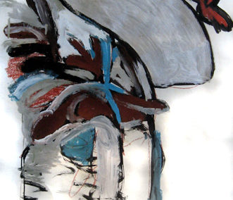 Untitled – paint, ink, cray-paz on paper