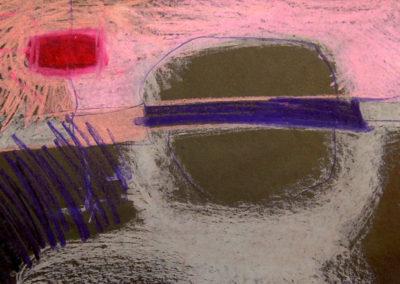Cray-Paz on Blotter Paper