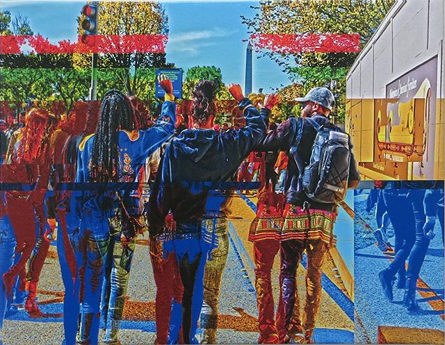 "Phillip McConnell   ""New Day, Same Message"" glitch art,  $150.00"