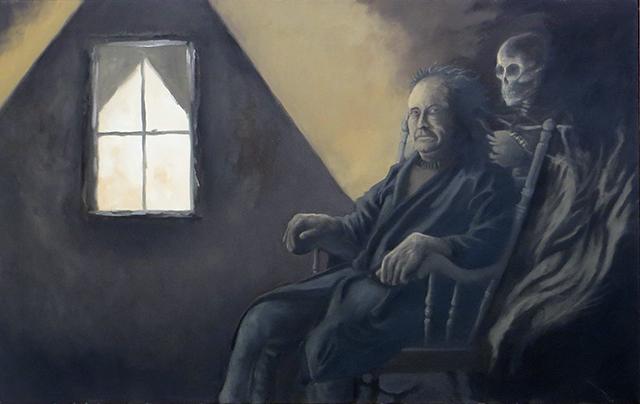 """Steven Ullmer  """"The Dark Room"""" oil on canvas, $1,500.00"""