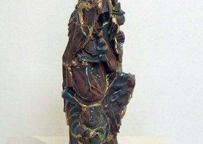 """Guarino"", ceramic, glaze and gold by Kelly Clark"