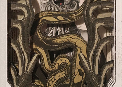 """Coiled Breath"",  hand cut paper sculpture by Alex Eckman-Lawn"