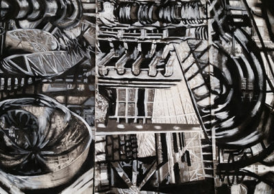"""""""Providence"""", Xerox transfer, pastel and acrylic by Kelly Clark"""