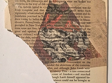 """Shard"", mounted vintage book page print by Alex Eckman-Lawn"