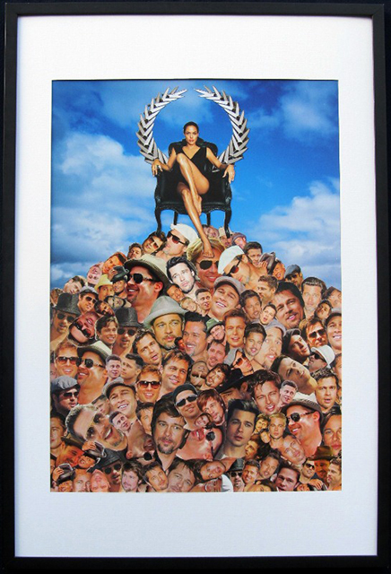 """Luis Alves: Collage   – """"Womens World"""" framed hand made collage"""