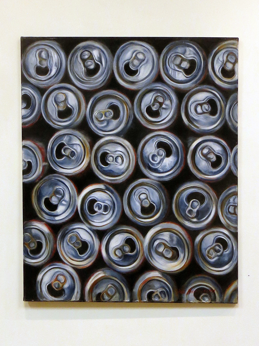 "Neil Besignano-""Empty Cans"" oil on Canvas"
