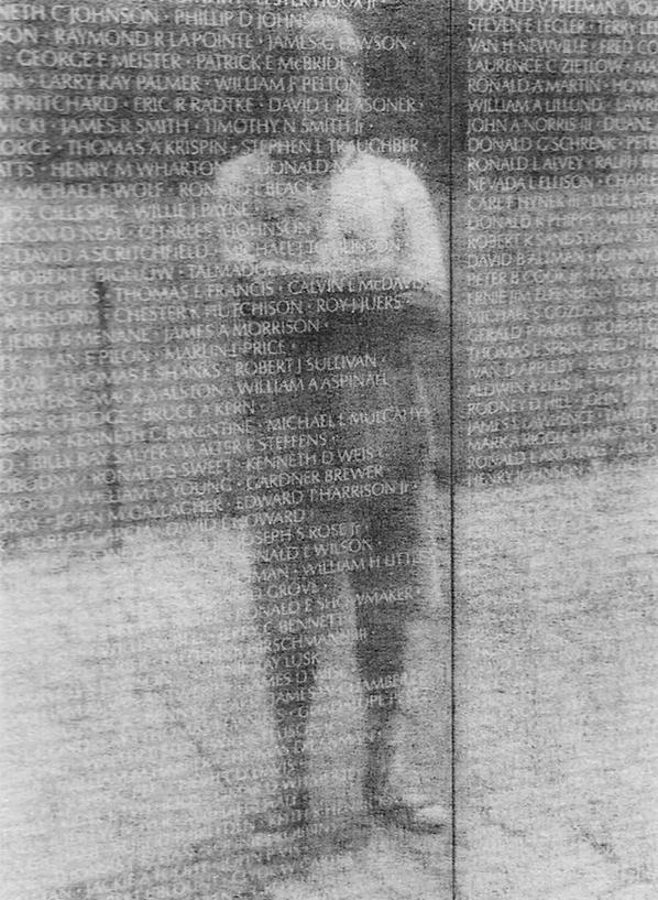 "Patricia Bender  – ""Lou at the Wall"" gelatin silver print"