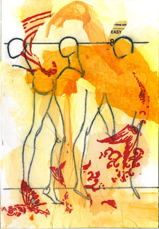 """Lisa Turngren  – """"On/Unmaking a Model #11 """" mixed media"""