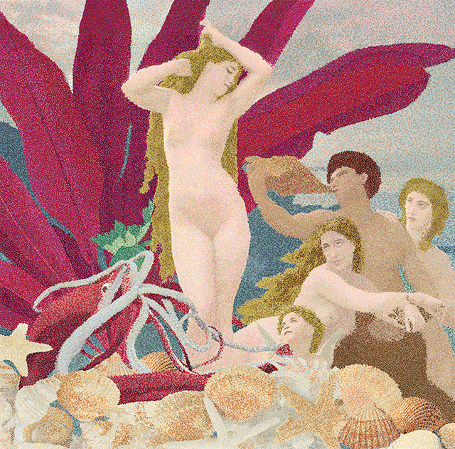 "Donna Faranda  – ""The Birth of Aphrodite"" micro pointillism in Corel Painter"