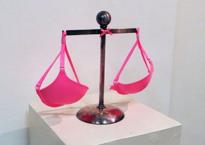 "Joseph Ursulo -""The Measure of Women"", justice scale, bra"