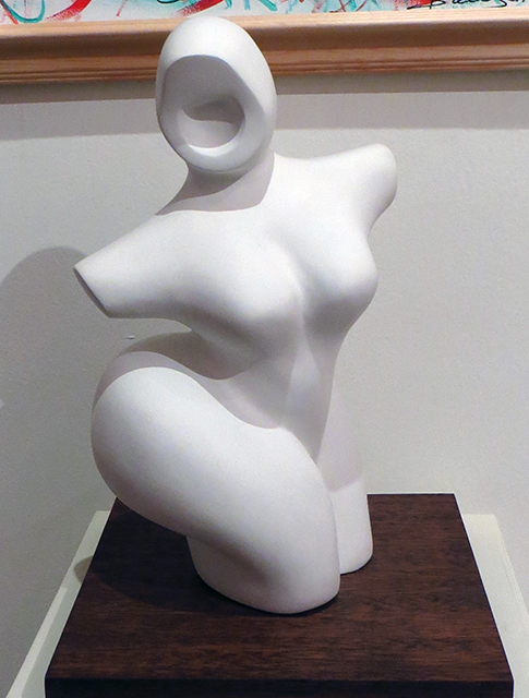 "Alison Hooper  – ""Lady"" plaster sculpture"